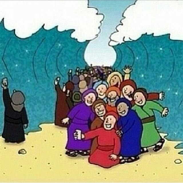 If cell phones would have been around during the parting of the Red Sea